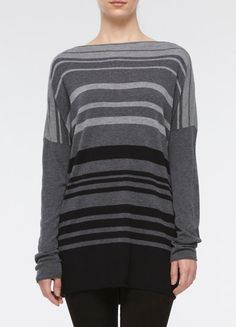 Vince's Variegated Stripe Boatneck Sweater --also cute and cozy. Maybe less dependent on freezing weather.
