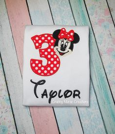 Minnie Mouse Birthday Shirt   FREE by CrabbyNurseCreations on Etsy, $22.00