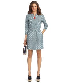 Chambray Dot Dress - Brooks Brothers