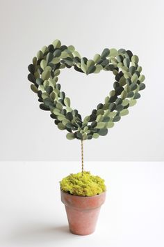 Paper Topiary Heart  Image Via: The House That Lars Built