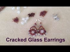 Cracked Glass Earrings--Beginner Tutorial - YouTube