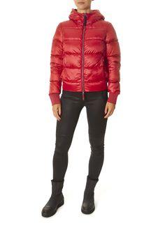 'Mariah' Red Short Puffer Coat | Jessimara