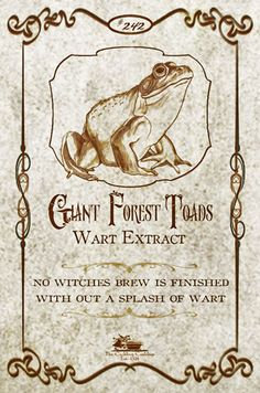 Frog's wart extract label