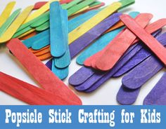 popsicle stick crafting