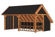 Tuinhuis / Blokhut Trendhout Kapschuur De Hoeve XL 6350mm C 520146C-31 Tiny House, Pergola, Shed, Xl, Outdoor Structures, House Styles, Barns, Home Decor, Homemade Home Decor