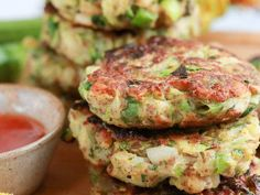 Vegan Courgette Fritters with Pine Nuts (G.F. recipe)   The Vegan Larder