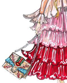 J.Larkowsky Illustration, 'Dionysus' bag by Gucci, SS16