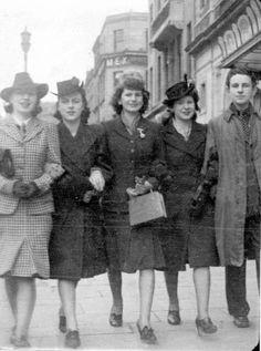 O'Connell Street, Dublin, Ireland 1947.
