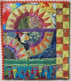 Diane Wright Art Quilts: Fiberactions Reveal: Colorful Secrets
