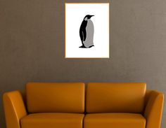 Wall Art Penguin. For nursery / playroom / living room. Black and gray penguin. Minimalist Printable Poster. High resolution (300 dpi) JPG files in 11x14 size and 8x10.  Buy on Etsy!