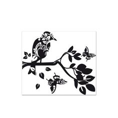 "Style and Apply Bird Branch Wall Decal Size: 31"" H x 27"" W, Color: Black"