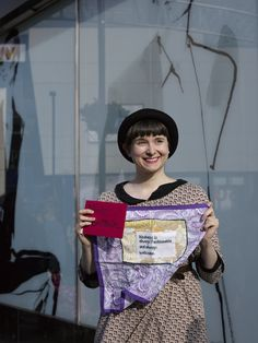 'I created a hanky, accompanied by a letter for Alison Brittain, one of M&S' Board of Directors, to encourage her to adopt the Living Wage for employees. I also went to a Craftivist stitch-in outside an M&S in North London with ShareAction...The idea of the stitch-ins is to show M&S that in that in addition to major shareholders with billions of pounds under management, its core customer base is also fully engaged and supportive on the issue of the Living Wage' Gemma