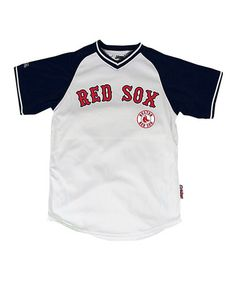 Stitches Athletic Gear White   Navy Boston Red Sox Jersey - Boys a23a12d1b38