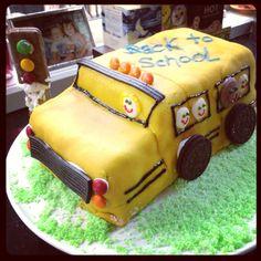 Back to school chocolate mud fondant cake. Timtam traffic light. Liquorice outlines. M car lights and chocolate button (PC) school children