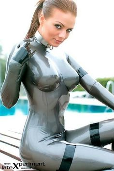 With the bright sun reflecting off this amazing catsuit, I would definitely buy this
