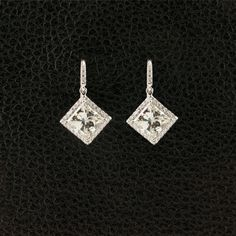Princess cut Diamond Dangle Earrings – CRAIGER DRAKE DESIGNS®