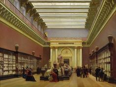 La Galerie Campana, 1866 (oil on canvas) by Charles Giraud