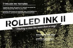 17 stunning rolled ink textures Created by hand, this pack of 17 textures are great for adding that grunge effect to your work. Instantly add texture to Business Brochure, Business Card Logo, Website Background Design, Art Design, Graphic Design, Script Type, Creative Sketches, Texture Design, Pencil Illustration