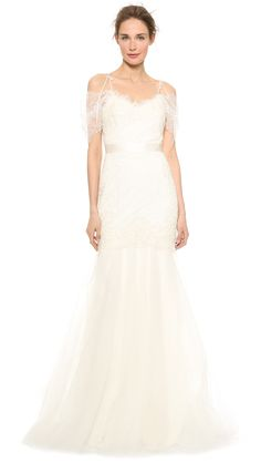 Monique Lhuillier Alessia Lace Dress with Back Keyhole | SHOPBOP SAVE 25% use Code:SPRING25