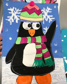 I love all of winter projects for kindergarten, but I am not sure which one to do this year! Any thoughts? #kidsart #artteacher #winterart #polarbears #fox #penguin #art #mixedmedia