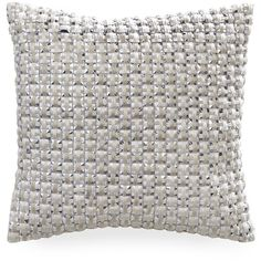 Gingerlily Silk Cube Cushion - Ivory ($127) ❤ liked on Polyvore