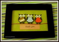 thank you card- owls