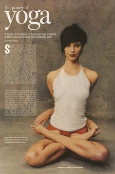 Christy Turlington. Yoga Goddess. Lotus Pose.