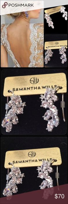 "Samantha Wills 'You Are All I See' Earrings Samantha Wills elegant ""You Are All I See"" collection. Beautiful crystal drop pierced earrings set in silver rhodium. Pair these earrings with my You Are All I See bracelet for a memorable evening or wedding. Samantha Wills Jewelry Earrings"