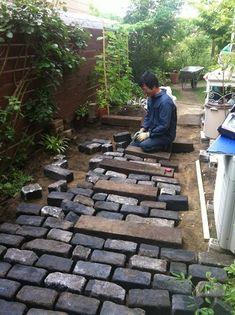 Outdoor Projects, Outdoor Decor, Rain Garden, Brick Patios, Garden Living, Garden Landscaping, Firewood, Ideas Para, Paths