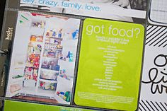 love the fridge idea + list.  great document of life.