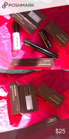 Hourglass Lipstick   Primer   Mascara Bundle New. Sample size. Authentic. Visit product site for product info. No trades. Offers welcomed.   Hourglass mineral veil primer 0.14 oz Hourglass mascara 0.15 oz in onyx Hourglass lipstick 0.03 oz in icon  💕 Hourglass Makeup Face Primer