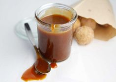 Whiskey Caramel Sauce  - drizzle over vanilla ice cream or brownies, stir in your coffee, or give as a special gift. Recipe developed for Dixie Crystals by Paula Jones @bellalimento.