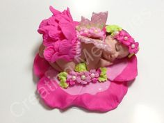 Baby with Butterfly Wings on a Flower.  Made of Vanilla by anafeke, $22.00