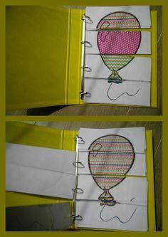Puzzelmap met ballonnen in met verschillende patronen. Puzzels bestaan uit 4 stuks. *liestr*