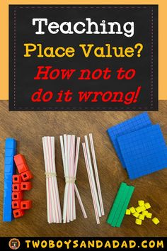 Whether you're teaching place value to kindergarteners, 1st or 2nd graders, there are some important and critical points you should know. Do I use pre-grouped or ungrouped manipulatives? What place value activities should be done? What's the progression in learning about place value? Read more about place value on my blog post. Sign up for the newsletter and get a FREE place value game activity! Read it now! #twoboysandadad #commoncoremath #math #placevalue #firstgrade #secondgrade #kindergarten