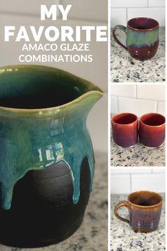 Raku Pottery, Thrown Pottery, Glazes For Pottery, Glazing Techniques, Pottery Techniques, Beginner Pottery, Ceramic Glaze Recipes, Amaco Glazes, Ceramic Pots