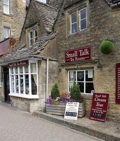 Photo of small talk tea room - Cheltenham, Gloucestershire, United Kingdom. Small Talk Tea Room Bourton On The Water Cafe Restaurant, Cottages Anglais, Pictures Of England, Bourton On The Water, English Village, Small Talk, Photos Voyages, England And Scotland, My Cup Of Tea