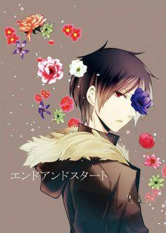 Izaya OMG HE LOOKS SO BEAUTIFUL WITH THE FLOWERSSSSS