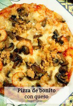 Pizza de bonito con queso