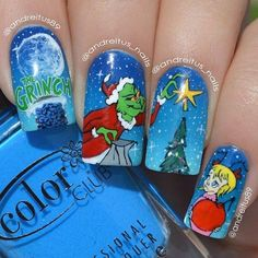 ✝☮✿★ CHRISTMAS NAIL ART ✝☯★☮ The Grinch