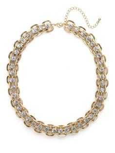 our gold crystal link strand - a must-have!