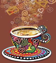 Cup art via Hippie Peace Freaks on Facebook | #Coffee