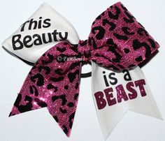 This Beauty is a Beast Cheerleading Hairbow Custom by Funbows