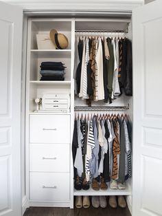 Small Closet Organization, Organization Ideas, Small Closet Storage, Clothing Organization, Storage Room, Small Bedroom Storage, Wardrobe Organisation, Storage Cubes, Bedroom Storage Solutions