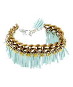 Blue Squaw Bracelet Made With SWAROVSKI ELEMENTS