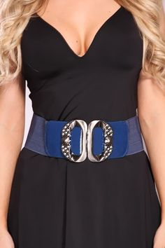 Even if you tried, you still couldnt stop loving fine fashion. But relax, theres no crime in that! In fact, we think you should wear your enthusiasm for everything stylish with pride, and slipping on this adorable, elasticized belt is a good way to start! Featuring a broad, woven stretchy band, front snap closure, rhinestone studded detail and finished off with high polished metal accents to spice things up a bit.