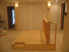 Theater Room Platform with Bar in back