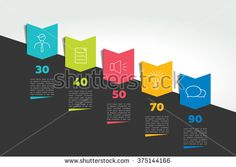 Infographic timeline banner. Step by step report template. Vector.