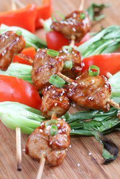 Hoisin Chicken and Bok Choy Kebobs | foodnfocus.com
