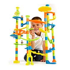 Super Fun Marble Run and over 7,500 other quality toys at Fat Brain Toys. Exercise your creative brain power as you build tall towers that twist and loop into endless combinations. Drop your marbles down the shoots and watch them race through all kinds of crazy tracks!